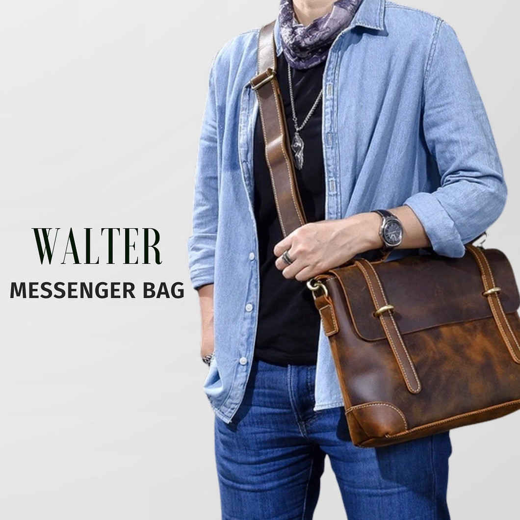 WALTER LEATHER MESSENGER BAG