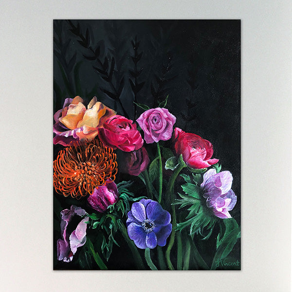 """Bloom"" 45cm x 61cm Acrylic on canvas"