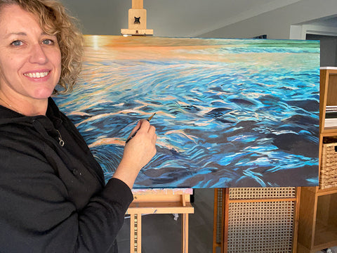 Sandra Vincent artist, painter of large abstract paintings