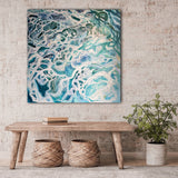 Somehow we'll get through - large abstract painting by Sandra Vincent