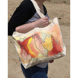 """Firelight"" hand-painted tote bag Handpainted tote bags Sandra Vincent Art"