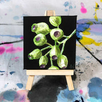 """Gumnut"" Mini canvas painted by Sandra Vincent. Painted mini canvas Sandra Vincent Art"