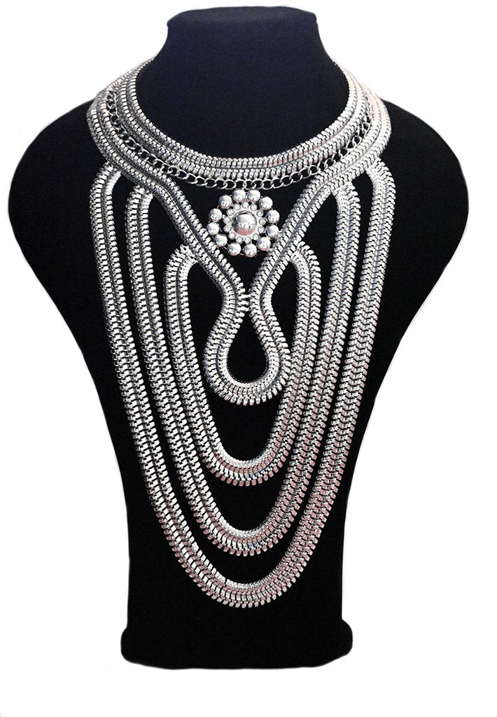 Statement Necklace - Silver