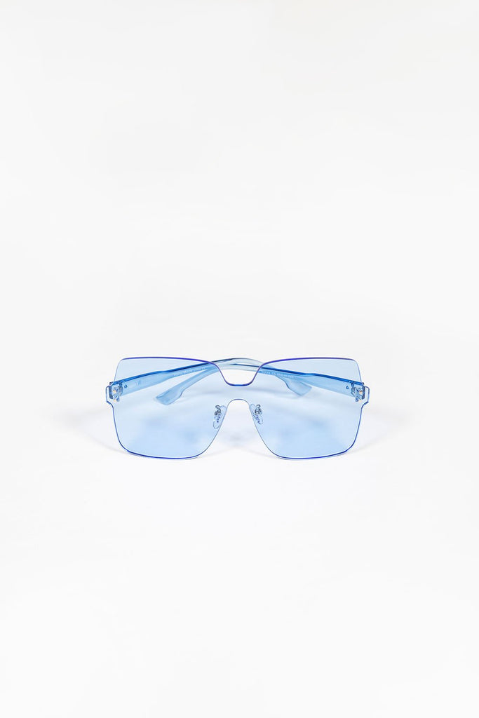 Tinted Oversized Sunglasses - Blue