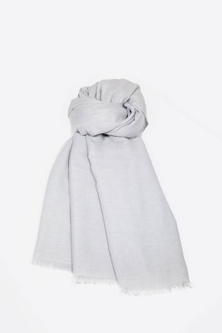 Soft Cotton Headscarf - Silver