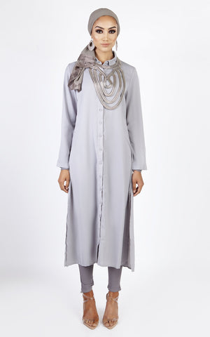 Oversized Shirt – Light Grey