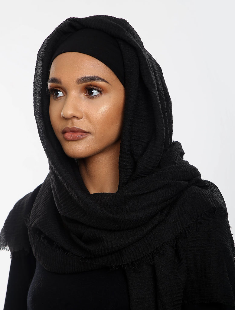 Crepe Headscarf - Black