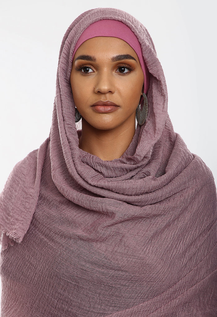 Crepe Headscarf - Purple