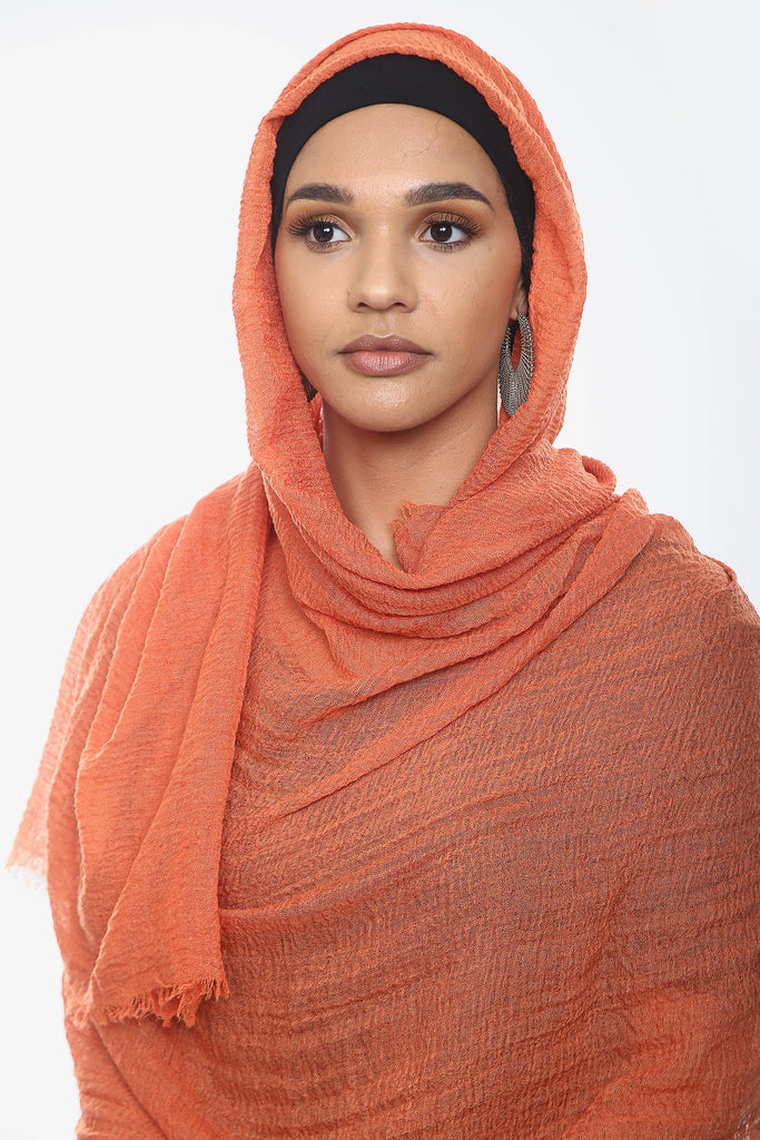 Crepe Headscarf - Orange