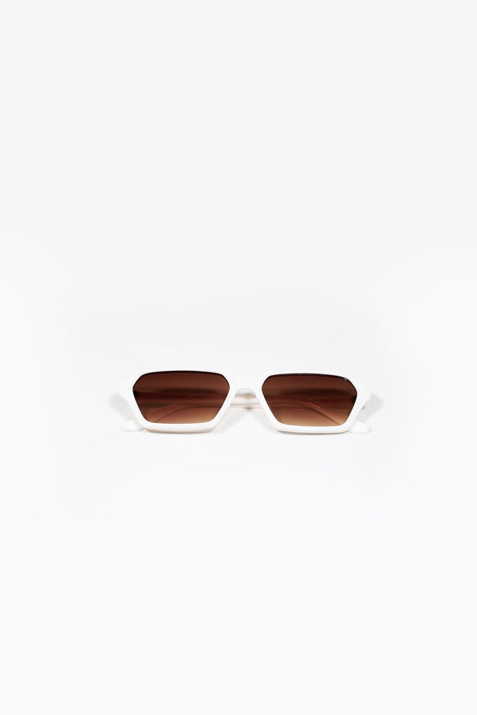Slimline Sunglasses - White