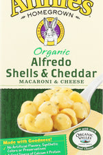 ANNIES HOMEGROWN: Mac and Cheese Shell and Alfredo, 6 oz
