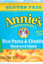 ANNIE'S HOMEGROWN: Rice Pasta & Cheddar Gluten Free Microwavable Mac & Cheese Cup, 2.01 oz