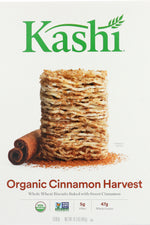 KASHI: Organic Whole Wheat Biscuit Cereal Cinnamon Harvest, 16.3 oz