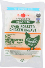 APPLEGATE: Organics Oven Roasted Chicken Breast, 6 oz