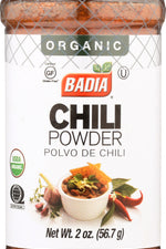 BADIA: Chili Powder Organic, 2.5 oz
