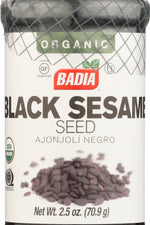 BADIA: Organic Black Sesame Seeds, 2.5 oz