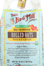 BOBS RED MILL: Organic Old Fashioned Rolled Oats, 16 oz