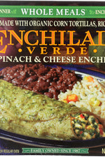 AMY'S: Enchilada Verde Spinach & Cheese Whole Meal, 10 oz