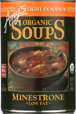 AMY'S: Organic Soup Low Fat Minestrone Light In Sodium, 14.1 oz