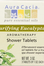 AURA CACIA: Aromatherapy Shower Tablets Purifying Eucalyptus 3 tablets (1 oz each), 3 oz