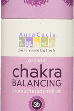 AURA CACIA: Organic Enlightening Crown Chakra Balancing Roll On, 0.31 oz