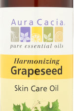 AURA CACIA: Natural Skin Care Oil Harmonizing Grapeseed, 16 Oz