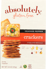 ABSOLUTELY GLUTEN FREE: Cracker Gluten Free Cracked Pepper, 4.4 oz