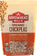 ARROWHEAD MILLS: Organic Garbanzos Chickpeas, 16 oz