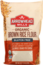 ARROWHEAD MILLS: Flour Long Brown Rice Organic, 24 oz