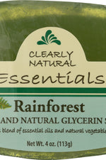 CLEARLY NATURAL: Rainforest Pure And Natural Glycerine Soap, 4 oz