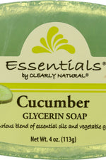 CLEARLY NATURAL: Cucumber Pure & Natural Glycerine Soap, 4 oz