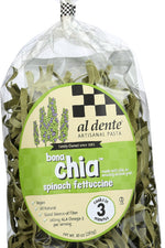 AL DENTE: Pasta Chia Vegan Spinach, 10 oz