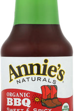 ANNIES HOMEGROWN: Bbq Sweet & Spicy Sauce, 12 oz