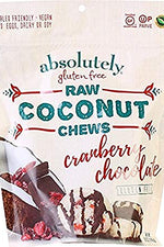 ABSOLUTELY GLUTEN FREE: Chews Coconut With Cranberry Nib, 5 oz