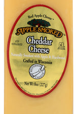 APPLE SMOKED CHEESE: Smoked Cheddar Cheese, 8 oz