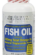 AMINO ACID: Vitamin Omega-3 Fish 1090 MG, 60 cp