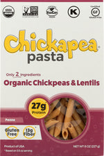 CHICKAPEA: Organic ChickPea and Red Lentil Pasta Penne, 8 oz
