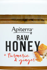 APITERRA: Turmeric & Ginger Raw Honey, 8 oz