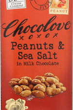 CHOCOLOVE: Peanuts & Sea Salt in Milk Chocolate, 3.2 oz