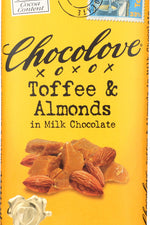 CHOCOLOVE: Toffee & Almonds In White Chocolate, 3.2 oz