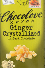 CHOCOLOVE: Dark Chocolate Bar Crystallized Ginger, 3.2 oz