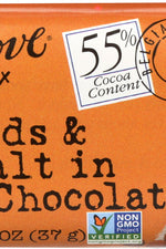 CHOCOLOVE: Almonds and Sea Salt in Dark Chocolate Mini Bar, 1.3 oz