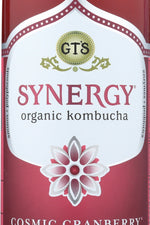GT ENLIGHTENED KOMBUCHA: Synergy Cosmic Cranberry Drink,  16 Oz