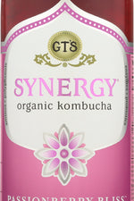 GTS ENLIGHTENED: Synergy Organic and Raw Kombucha Passionberry Bliss, 16 oz