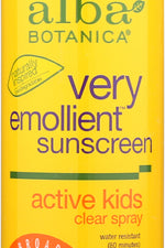ALBA BOTANICA: Kids Spray Sunscreen Spf 50, 6 oz