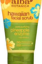 ALBA BOTANICA: Hawaiian Pineapple Enzyme Facial Scrub, 4 oz