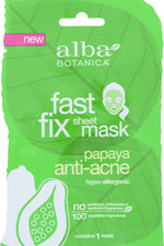 ALBA BOTANICA: Papaya Anti-Acne Fast Fix Sheet Mask, 1 ea