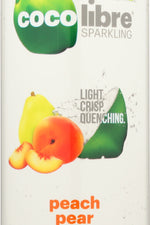 COCO LIBRE: Sparkling Coconut Water Peach Pear, 11 fl oz