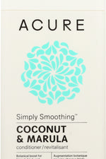 ACURE: Simply Smoothing Conditioner Coconut & Marula, 12 fl oz