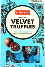 ALTER ECO: Organic Velvet Truffles Dark Milk Chocolate, 4.2 oz